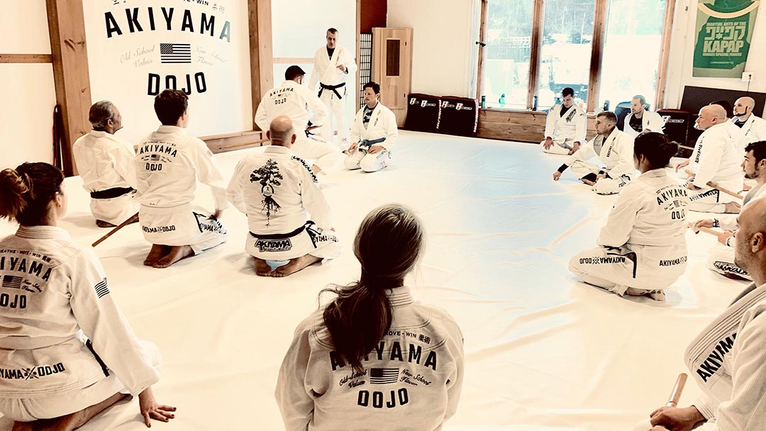 Our perspective on BJJ is based on vast experience in other martial arts. In this seminar with our teacher's teacher, Avi Nardia presented lessons on how Brazilian Jiu Jitsu has roots in Japanese swordsmanship. Participants enjoyed completing the loop by taking BJJ skills into sword concepts.